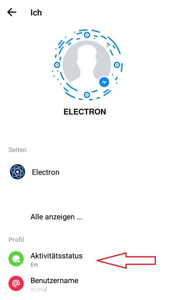 Facebook Online Status Verbergen Electron